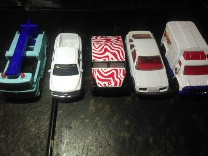 Lot of 5 toy replica cars MATCHBOX