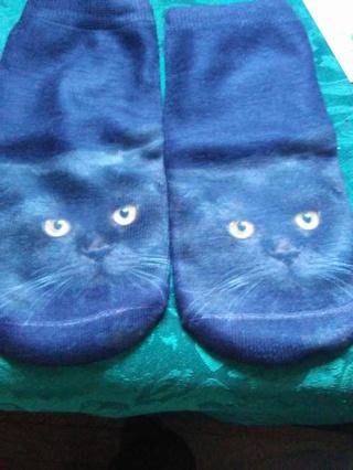 black cat socks I pay 4 shipping