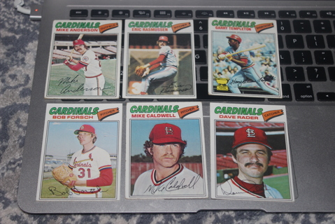 (6) 1977 Topps St Louis Cardinals Baseball Cards MLB