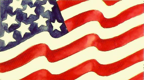 1 American Flag Decal