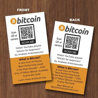 Lot of 100 Pack of BTC Bitcoin Seed Cards / Help Spread Crypto Adoption
