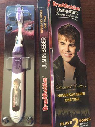 1 NEW Electronic Justin Bieber Tooth Brush Singing Song Toothbrush