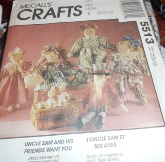 Two Uncut Patterns - Dolls and Friends