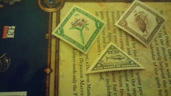 Mint Costa Rica set of 3 stamps 1937 - 1938