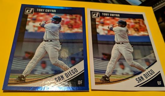 BLUE PARALLEL WITH TONY GWYNN (BASE) CARD * TWO CARD LOT