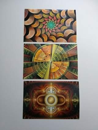 Set of 3 Fractal Art Prints by Stan Ragets
