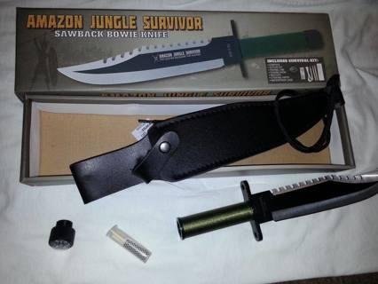 New In The Box Amazon Jungle Survivor Knife