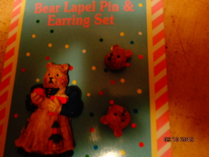 bn teachers pin and earring set