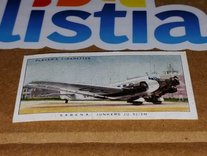 "1936 JOHN PLAYER CIGARETTE CARDS■INTERNATIONAL AIRLINERS■""S.A.B.E.N.A.""■NO.9■FREE $HIPPING"