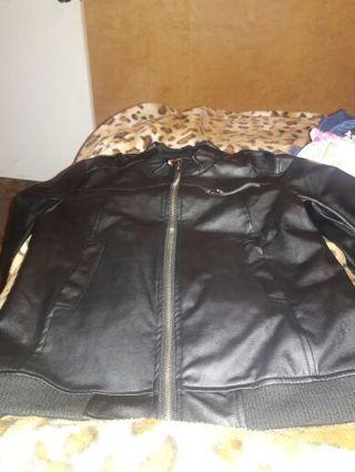 Leather jacket size l