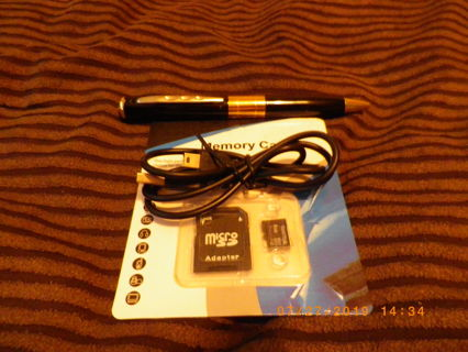 Spy pen with 8gb micro sd card & adapter