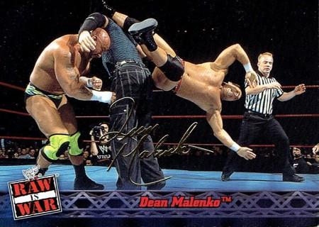 WWE WWF RAW Is WAR Fleer 2001 Collectible Facsimile Autograph Card #4 Dean Malenko