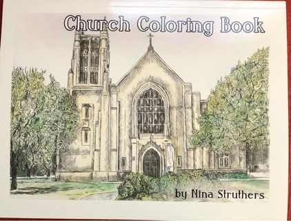 CHURCH COLORING BOOK BY NINA STRUTHERS