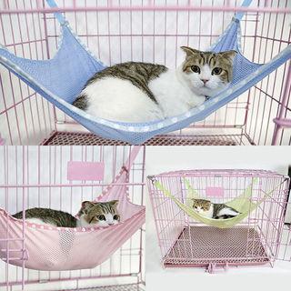 Cat Kitten Puppy Pet Ventilation Mesh Hanging Cage Hammock Bed Convenient