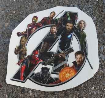 THE AVENGERS WALL DECALS DECORATIONS