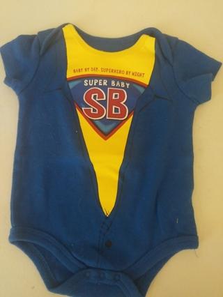 Super baby onesie, size 3/6 months