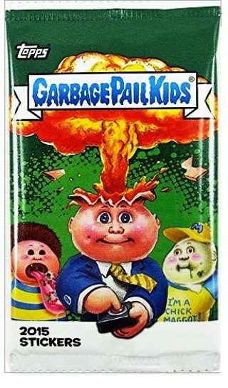 1 NEW GARBAGE PAIL KIDS Cards BOOSTER PACK 2015 TOPPS Trading Card Stickers GIN FAST SHIPPING