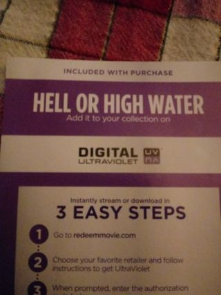 Hell or High Water VUDU Code