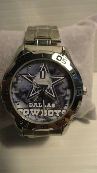 DALLAS COWBOYS STAINLESS STEEL QUARTZ WATCH