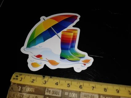 free rainbow boots umbrella girlie stickers stickers listia