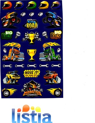 Monster Vehicles Stickers