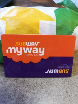 $5.00 SUBWAY CARD+GIFT+FREE SHIPPING