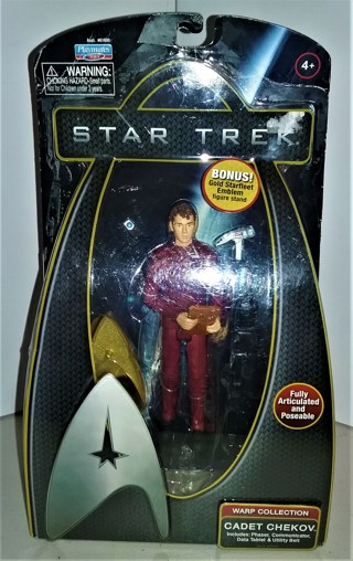 "2009 STAR TREK Cadet CHEKOV plastic action figure 6"" tall - sealed in packaging - NIP"