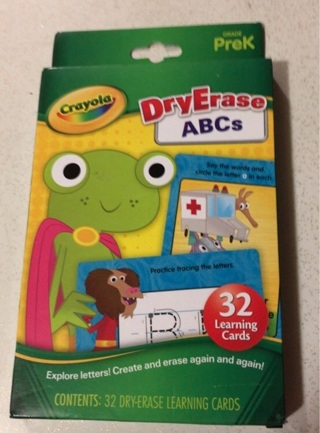 Crayola Dry Erase ABCs Flash Cards, New