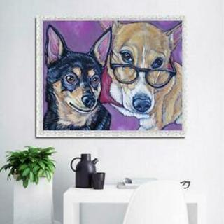 5D Full Diamond Paintings DIY Fashion Dogs Embroidery Cross Stitch Crafts
