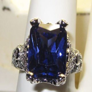 ring desperate housewives tanzanite cz gold plate quality SZ 5 6 7 8 9 10 NWT