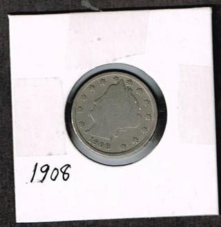 USA 1908   V-Nickel