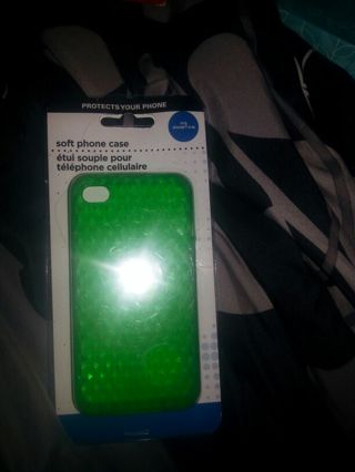 Green soft case iphone 4/4s