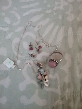 ~》Think Pink- Silver Jewelry Lot 《~
