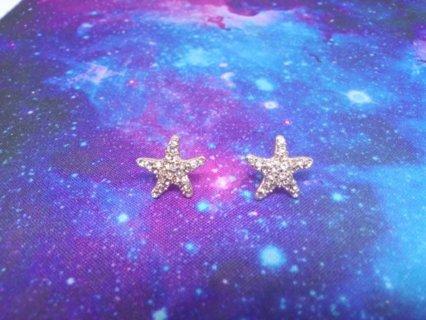 Rhinestone Starfish Earrings