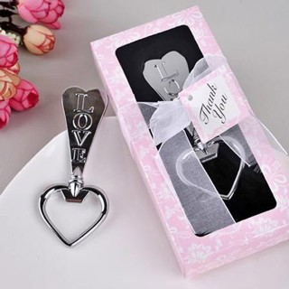 Alloy Beer Bottle Wedding Party Love Heart Shape Opener