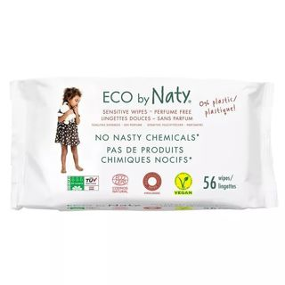 ✔ECO BY NATY Baby Wipes 3 Packs, 56 X 3 = 168 Count ~✔