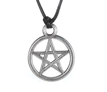 NEW Pentagram Pentacle Pendant Necklace Pentagram Right Side Up wicca pagan witch gothic nature