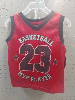 "NWT! TUFF GUYS Baby Boys 2pc set ""BASKETBALL MVP PLAYER"" Size: 18mths 100% POLYESTER"