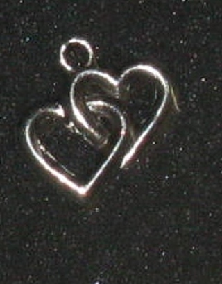 Connected 2 Heart silver tone charm
