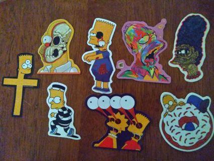 The Simpson vinyl sticker lot