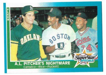 1987 Fleer #633 Jose Canseco, Jim Rice, Gary Puckett
