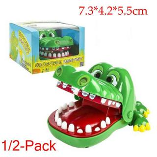 1/2 Funny Big Crocodile Mouth Dentist Bite Finger Toy Family Game For Kids Xmas