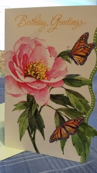 FLORAL & FEMININE BIRTHDAY GREETINGS CARD W/ MATCHING ENVELOPE