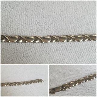 Sterling Silver 925 Hugs & Kisses Bracelet