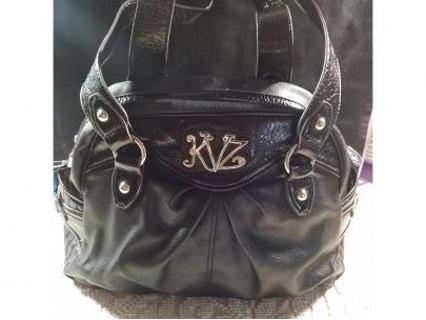 Kathy Van Zeeland shoulder bag Black bag EUC