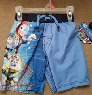 Paw Patrol swim trunks. Kids size Small 4/5. Brand new. Never used