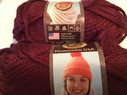 2 Lion brand hometown USA color #189 bulky yarn