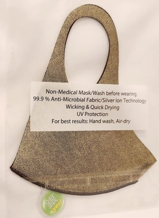 FACE MASK IN GOLD BLING FOR ADULT WOMEN