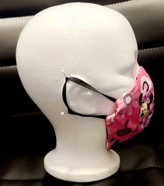 FACE MASK LITTLE GIRLS IN M MOUSE PRINT***LQQK***