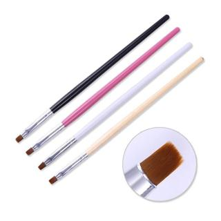 Powder Dust Clean Up Brush Flat Cuticle Cleaning Brush Acrylic Nail Art Tools